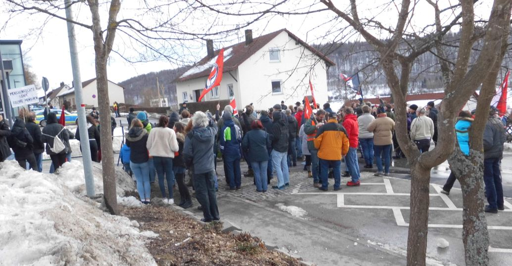 AfD-Demo in Burladingen